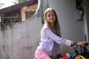 Beautiful Anna on Bike